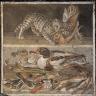 Mosaic: Cat Bites Partridge, Two Ducks