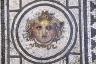 Head of Medusa and City Scene Floor Mosaic