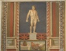 Wall Mosaic of a Pugilist on a Plinth and Rooster