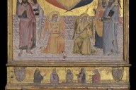 Coronation of the Virgin with Vir Dolorum Predella