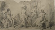 Judgment of Paris (cartoon for fresco)