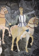 Chariot and Four Horsemen (opus sectile)