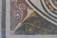 Floor Mosaic with Heads of Satyrs and Pan