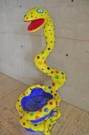 Pouf Serpent Jaune, Pouf Serpent Jaune