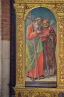 Madonna and Child Enthroned with Saints Andrew, Nicholas of Bari, Peter and Paul