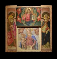 Madonna and Child with Two Seraphim, Christ Blessing with Cherubim and Seraphim, Saints Andrew and Denis