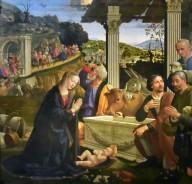Sassetti Chapel Altarpiece, Adoration of the Shepherds