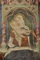 Madonna and Child Enthroned with Saints Sebastian and John the Baptist