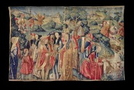 Flemish Court Scene Tapestry