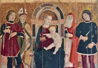 Madonna and Child Enthroned with Saints Claudius, Castor, Martin and Jerome, [Top] dead Christ between the Virgin and St. John