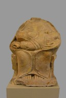 Statue of Mother Goddess (Kourotrophos) breast feeding two twins (from Megara Hyblaea)