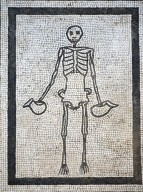 """Skeleton """"Carpe Diem"""" Mosaic"""