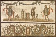 Lararium, Family Sacrificing to Lares with Agathodaemons