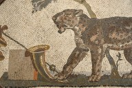 Panther with symbols of Dionysus