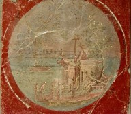 Fresco of Four Tondi with Villas