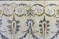 Dionysus with Satyrs and Laurel Wreath Mosaic