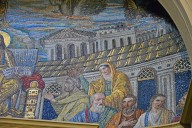Apse Mosaic, Christ Enthroned with His Apostles