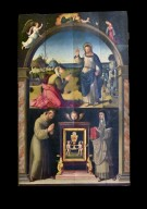 Altarpiece, Noli me tangere above and Saints Francis and Clare below
