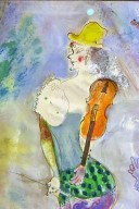Clown Playing the Violin