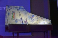 Harpsichord Painted with Isaac and Rebecca at the Well