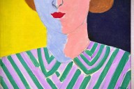 Portrait with Pink and Blue Face