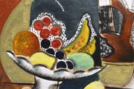 White Bowl with Fruit and Indian Jug