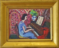Small Pianist in a Blue Dress