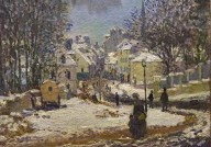Entrance to Grande-Rue at Argenteuil, Winter