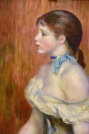 Young Girl with Blue Ribbon