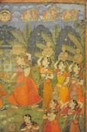Temple Hanging of the Pushti Sect Illustrating the Dāna-līlā