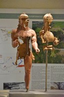 Terracotta Group of Hercules and Minerva
