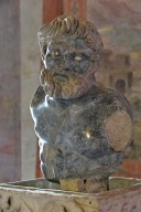 Three Roman Fragments: Bust of a Satyr, Funeral Urn, Funerary Altar