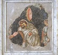 Mosaic Fragment of Comic Actor