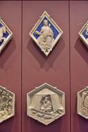 Florence Campanile Façade, Hexagonal Reliefs