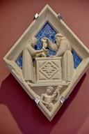 Florence Campanile Façade, Diamond-shaped Reliefs