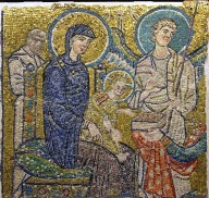 Holy Family, from the Adoration of the Magi [mosaic fragment]