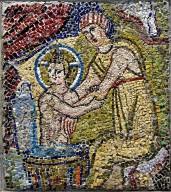 Washing of the Christ Child [mosaic fragment]