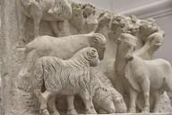 Duomo Façade Sculpture, Flock of Sheep and Oxen