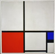 Composition in Colours / Composition No. I with Red and Blue