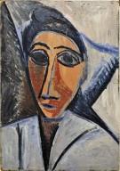 Bust of a Woman or Sailor (study for Les Demoiselles d'Avignon)