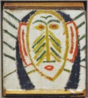 Multicolored American Indian head