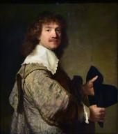 Portrait of a Man Holding a Black Hat