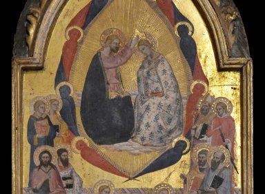 Coronation of the Virgin with Vir Dolorum Predella