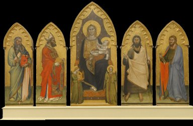 Madonna and Child Enthroned with Two Angels and Saints