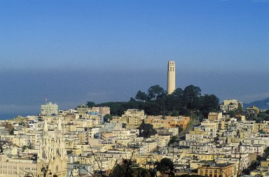 Coit Tower and Telegraph Hill; Topographic Views, Coit Tower and Telegraph Hill; Topographic Views