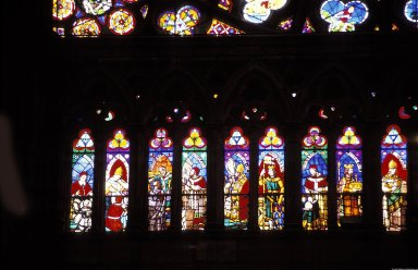 Saint-Denis: Stained Glass in Chancel and Rose Windows, Saint-Denis: Stained Glass in Chancel and Rose Windows