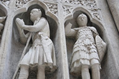 "Plaster Cast of the """"Knight's Communion"""" from Reims Cathedral, Plaster Cast of the """"Knight's Communion"""" from Reims Cathedral"
