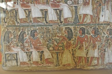 Painted stele of the 'Artisan of the Royal Tombs', Irynefer and his family, Painted stele of the 'Artisan of the Royal Tombs', Irynefer and his family