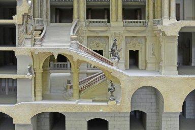 Model of the Paris Opera House, longitudinal section, Model of the Paris Opera House, longitudinal section