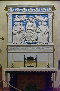 Madonna Enthroned with Angels and Saints